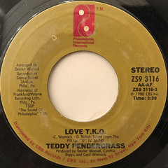 TEDDY PENDERGRASS:LOVE T.K.O.(LABEL SIDE-A)