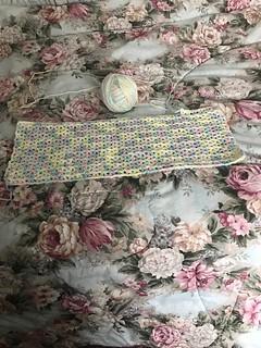 Progress on my V Stitch Crochet Afghan using Baby Rainbow Yarn by Caron - Using Size H Crochet Hook - Sunday Feb 17, 2019