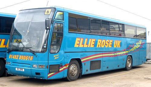 ICZ 3519 'Ellie Rose Travel Ltd.', 'Ellie Rose UK'. Volvo B10M / Plaxton Excalibur on Dennis Basford's railsroadsrunways.blogspot.co.uk'