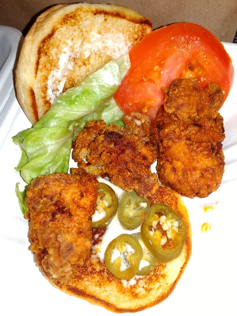 """The """"H-H"""" Fried Chicken Sandwich"""