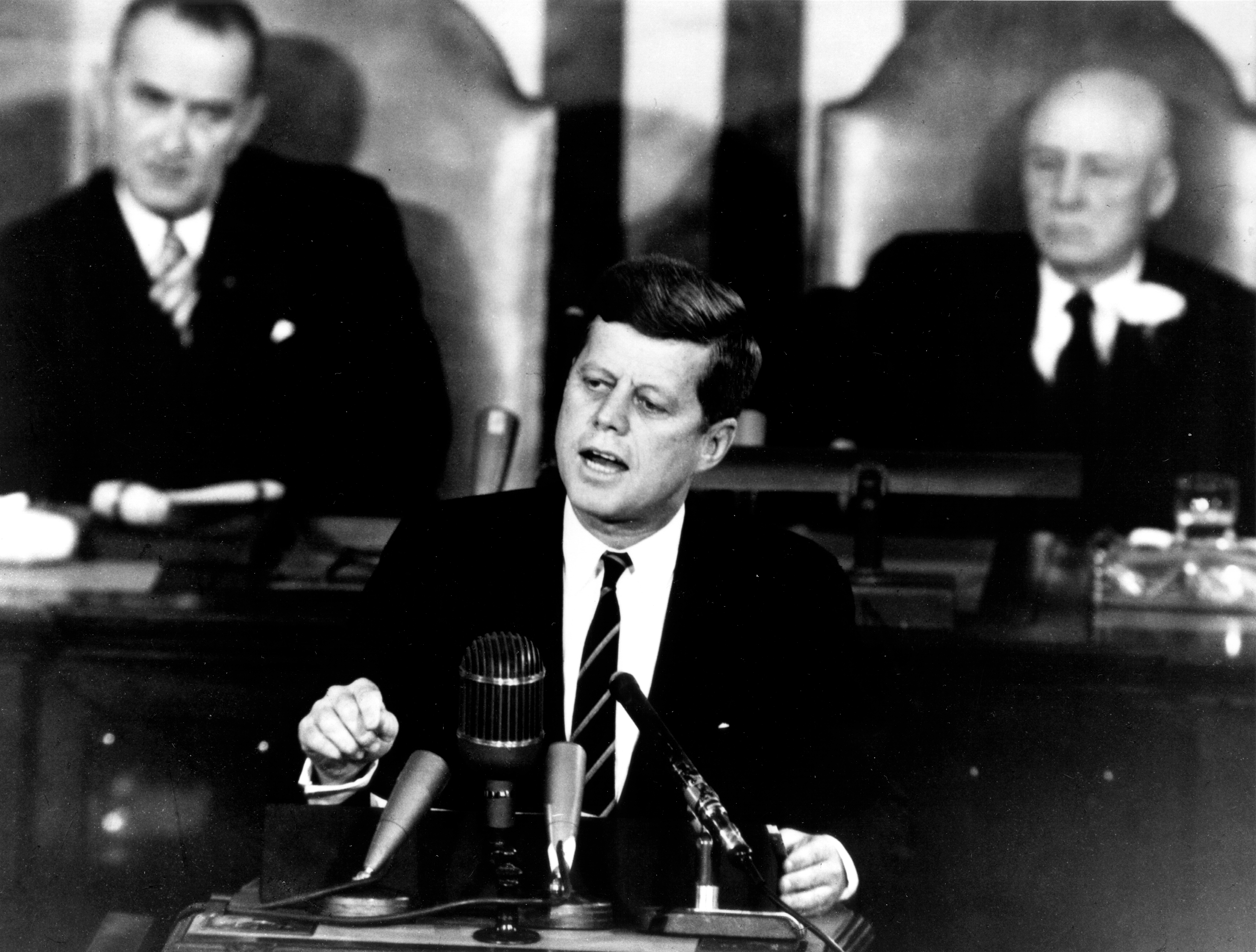 U.S. President John F. Kennedy in his historic message to a joint session of the Congress, on May 25, 1961 declared,