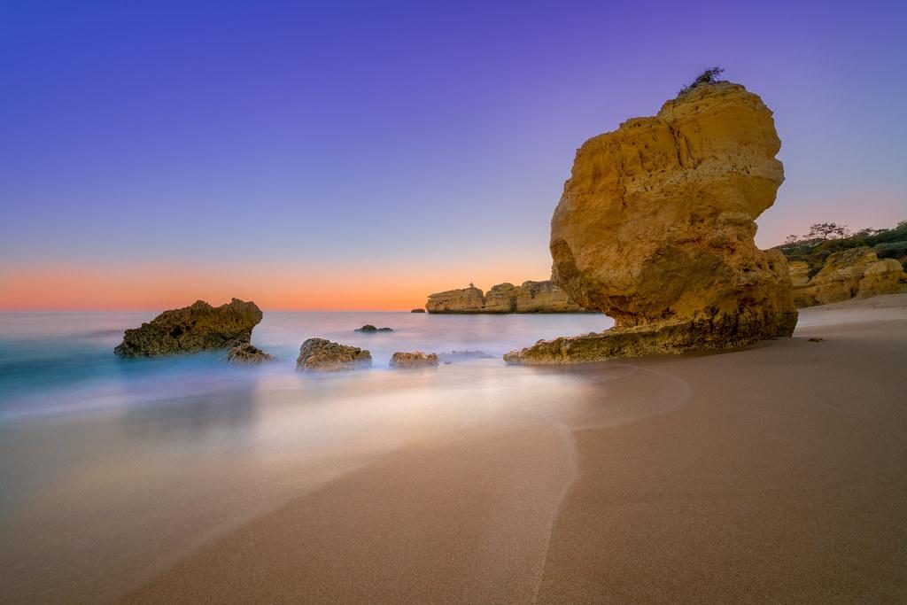 Praia De São Rafael at dusk