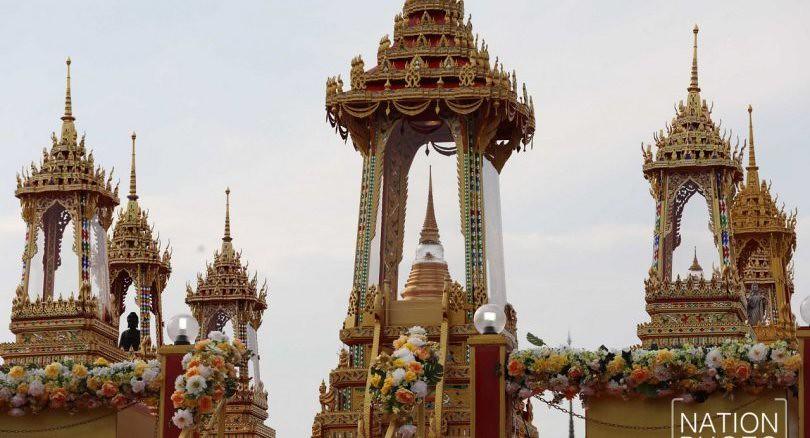 Relikui Sri Buddha dalam stupa-stupa disemayamkan di Sanam Luang, Bangkok, Thailand.
