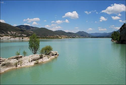 Pantano de la Peña (Riglos, Aragón, España, 10-7-2012)