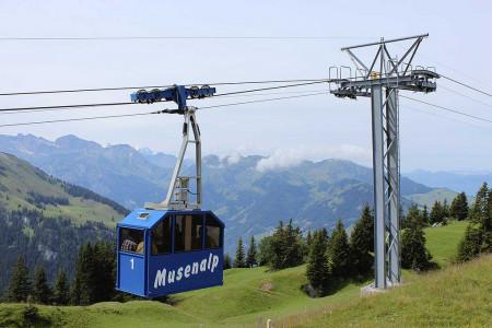 Malé unikátní a hospodářské lanovky v údolí Engelbergtal
