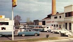 Postcard Caravanes Digue ''L'usine de Rosoy-sur-Serre'' (02 Aisne) 1964a
