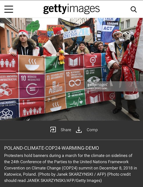 SustainaClaus AFP/Getty COP24