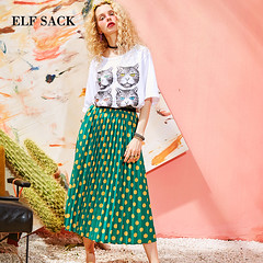 US $19.9 50% OFF|ELF SACK Women Vintage Dot Print Straight Skirt New Summer Design Ladies Casual Knee Length Female Casul Ladies Skirts-in Skirts from Women's Clothing on Aliexpress.com | Alibaba Group