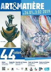 Jour J 44ème Salon Art et Matière à Prunay-sur-Essonne (91). Vernissage 16h30.