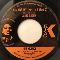 JAMES BROWN:IT'S A NEW DAY(LABEL SIDE-A)