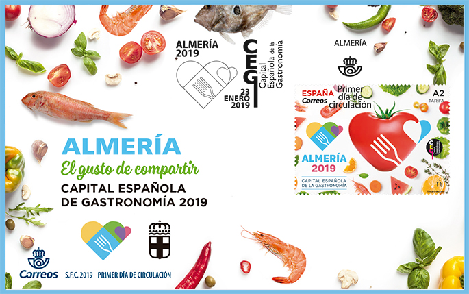 Spain - Spanish Capital of Gastronomy: Almería (January 23, 2019) first day cover
