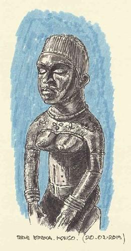 Escultura parcial. Kongo
