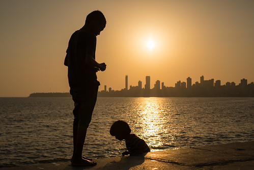 Silhouettes, Down by the Sea, Mumbai