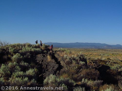 Walking the Big Crack of Lava Beds National Monument, California
