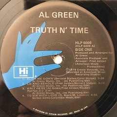 AL GREEN:TRUTH N' TIME(LABEL SIDE-A)