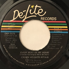 CROWN HEIGHTS AFFAIR:EVERY BEAT OF MY HEART(LABEL SIDE-B)