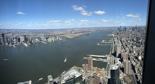 Hudson River, One World Observatory, One World Trade Center, New York, New York