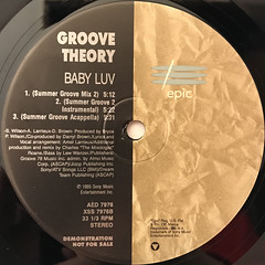 GROOVE THEORY:BABY LUV(LABEL SIDE-B)