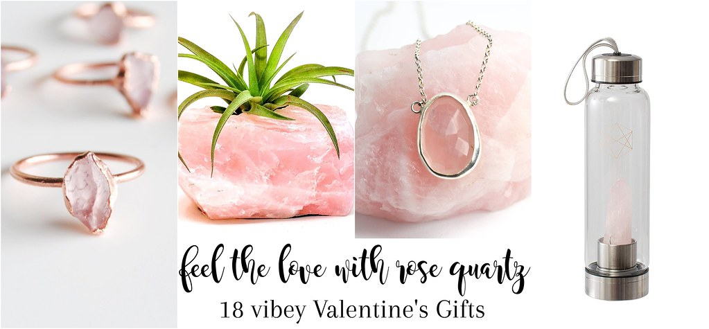 Rose Quartz and Rhodonite Crystal Gifts for Love Day | www.enrychment.com