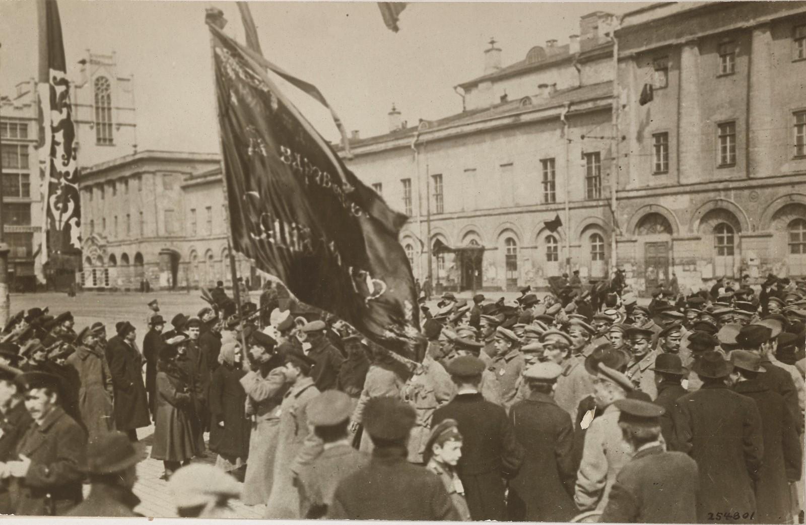 1917. Митинг на Театральной площади