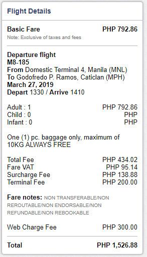 SkyJet Air Manila to Caticlan Boracay Promo