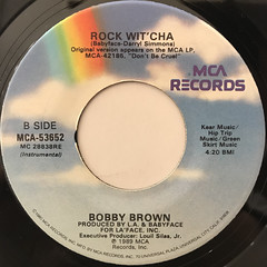 BOBBY BROWN:ROCK WIT' CHA(LABEL SIDE-B)