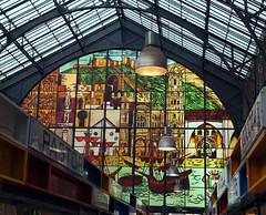Vidriera mercado de Malaga