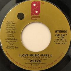 O'JAYS:I LOVE MUSIC(LABEL SIDE-A)