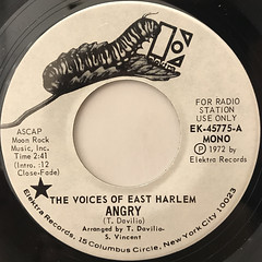 THE VOICES OF EAST HARLEM:ANGRY(LABEL SIDE-A)