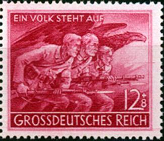 Známka Nemecká ríša 1945 Volkssturm