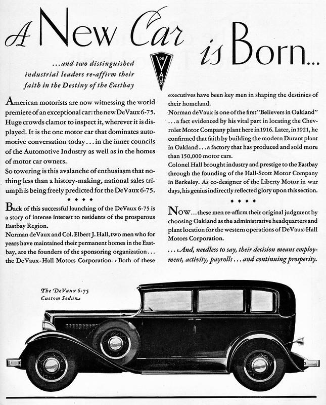 1931 DeVaux 6-75 Custom Sedan
