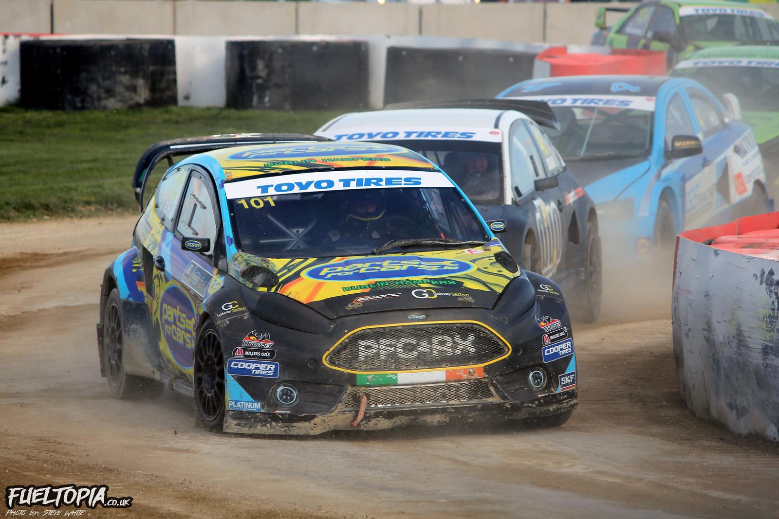 Derek Tohill Ford Fiesta Silverstone BRX British Rallycross Championship 2019 Steve White Fueltopia