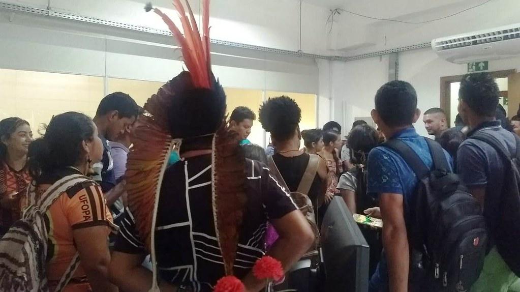 Indígenas e quilombolas ocupam sala da Ufopa por corte de quase 100 bolsas, Ocupação da Ufopa