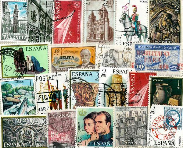 Známky Španielsko balíček 20 ks rôznych pamätných