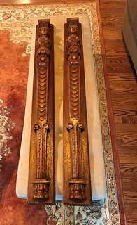 Set oak ornate ends for fireplace mantle | by thornhill3