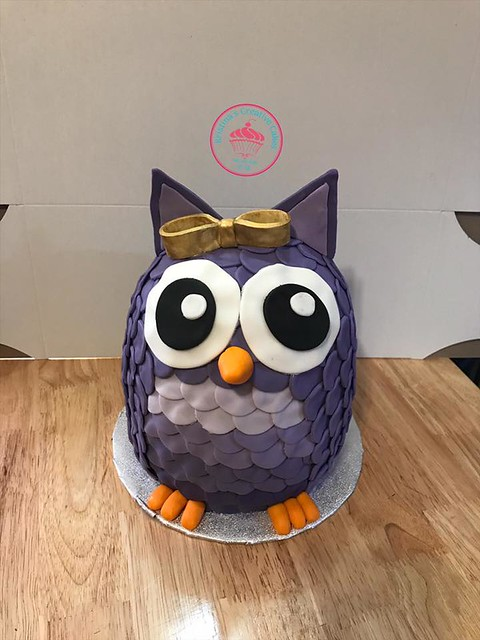 Owl Cake by Kristina's Creative Cakes