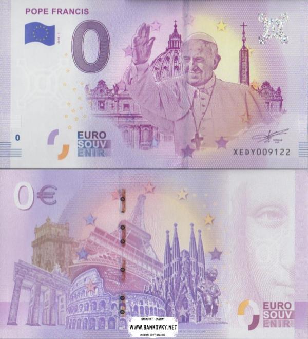 0 euro 2018 Vatikán - pápež František