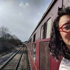 'Trouble ahead, trouble behind...' Driving my steam train. (Ok. Not driving. Not my steam train. But still a fun journey). Duchess of Sutherland.