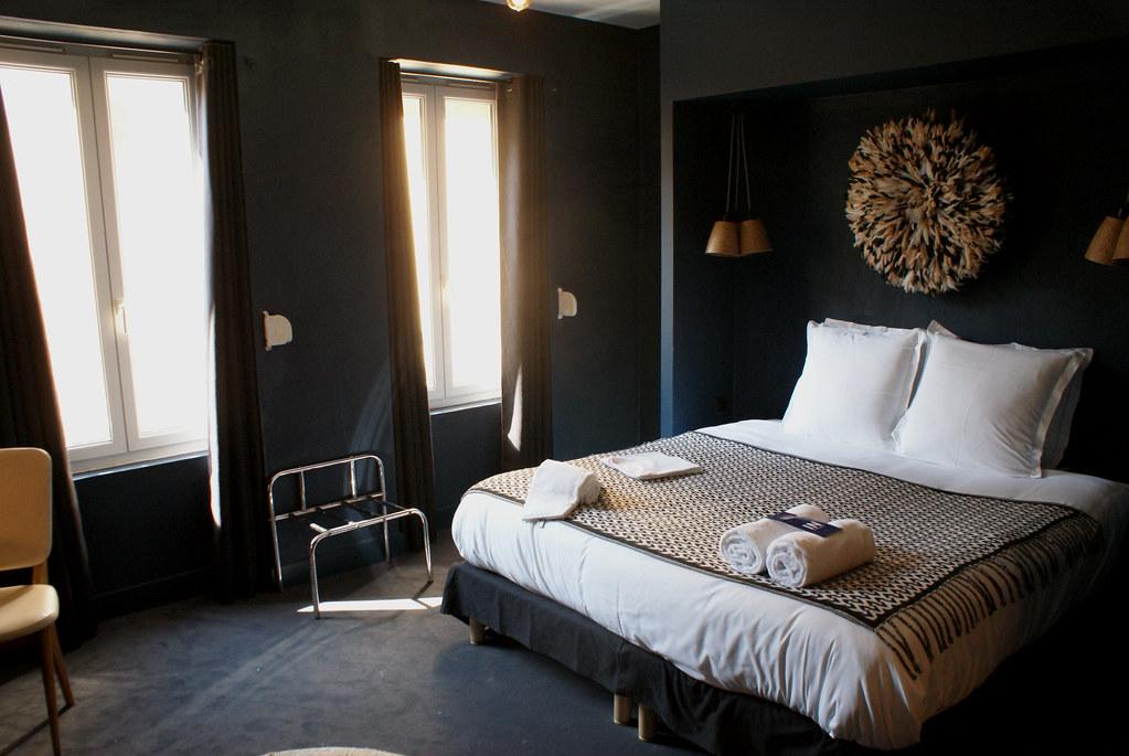 Une chambre de l'auberge de jeunesse Ho 36 à Lyon.