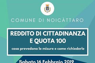 Noicattaro. reddito front