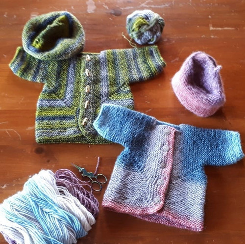 Two Baby Surprise Jackets by Paulette!!
