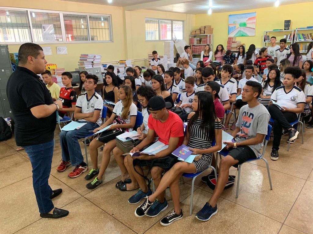 Comissão de Prevenção às Drogas da Alepa faz palestra em escola pública, Fábio Freitas