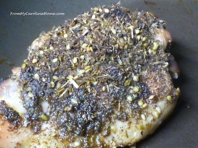 Za'Atar Chicken at FromMyCarolinaHome.com