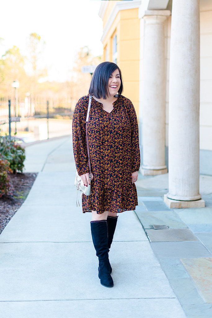Floral Drop Waist Dress-@headtotoechic-Head to Toe Chic