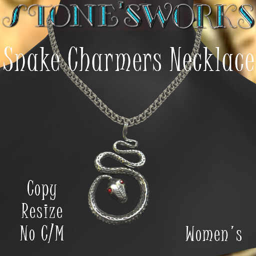 SNAKE CHARMERS NECKLACE W Stone's Works