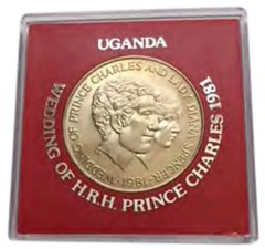 1981 Uganda Charles and Diana Commemorative coin