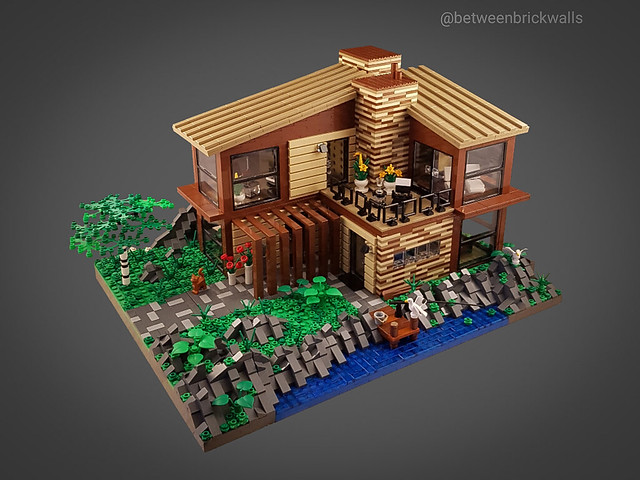 Scandinavian Sea House MOC. Front.