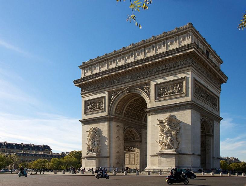 Kết quả hình ảnh cho Khải hoàn môn Paris