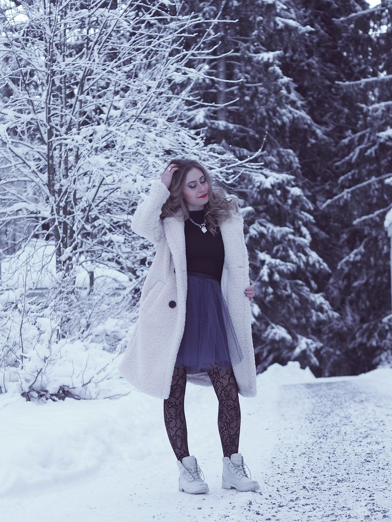 tulleskirt winter outfit