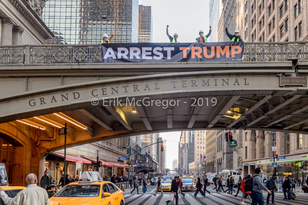 "Activists Spread ""Arrest Trump"" Message Across New York City"